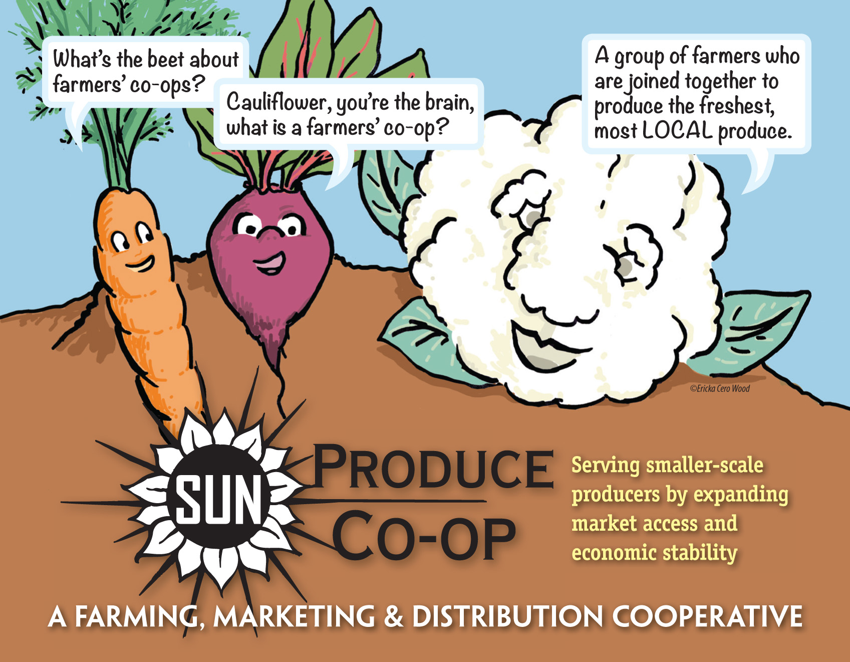 Sun Produce Co-op postcard